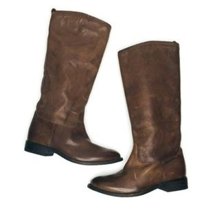 Dolce Vita Cigar Leather Tall Boots Sz 8.5